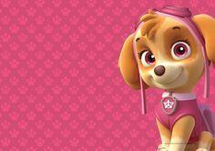Convite Digital Festa Patrulha Canina para meninas