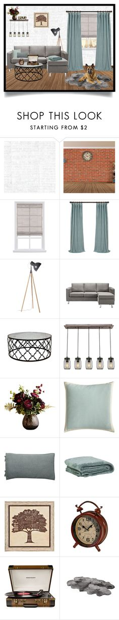 """""""City Chic Living Room // Room Designs"""" by mandalore ❤ liked on Polyvore featuring interior, interiors, interior design, home, home decor, interior decorating, Osborne & Little, Abigail Ahern, Pier 1 Imports and Pottery Barn"""