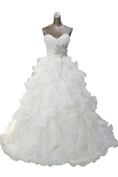 MengLu Winter Womens Ruffle Laces Aline Wedding Dress Bridal Gown Size 16w ** Want to know more, click on the image.