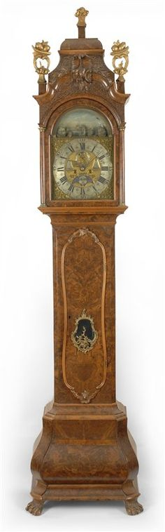 Antique Dutch tall clock