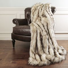 Aurora Home Bleached Finn Faux Fur Throw Blanket by Wild Mannered - 17696537 - Overstock.com Shopping - Great Deals on Aurora Home Throws