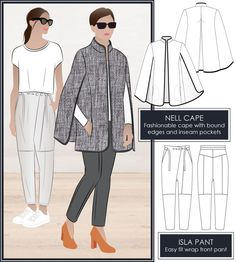 Isla pant and Nell Cape