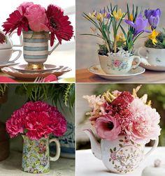 arranjo floral em bule de cerãmica - Pesquisa Google