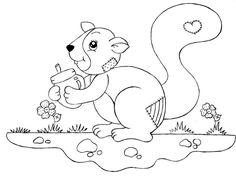 Pintura Country e Motivos Infantis: Esquilo Country!