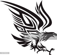 Arte vectorial : Tribal eagle