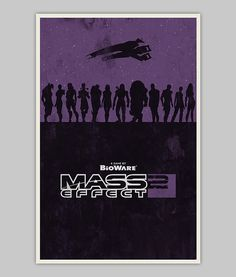Mass Effect 2 poster by WilliamHenryDesign on Etsy, $20.00