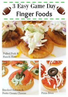 3 Easy Game Day Finger Foods - Pulled Pork, Salmon, & Pizza Bites. #ad #BowlTimeSnacks