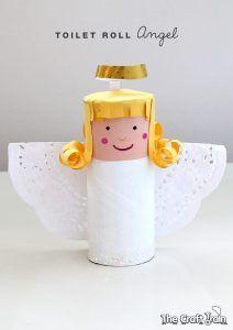 anioł z rolki po papierze, aniołek z rolki, tp roll angel, paper roll, craft, angel-pin-1
