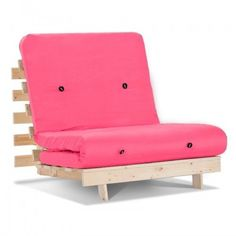Pink Futon Chair S Single Sofa Bed Lounge Kids Student Guest Play Room