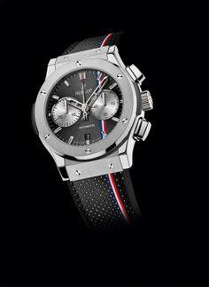 Hublot dèvoile la montre officielle du tour Auto 2014 Fusion Chrono  classique.