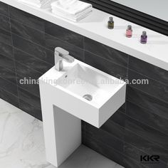 Source Acrylic solid surface toilet basin combination on m.alibaba.com