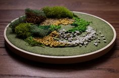 """leavingmybody: """"moss embroideries for a show i will hopefully be having this semester. """""""