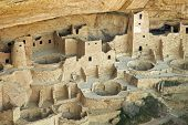 Picture of cliff palace native american dwelling.