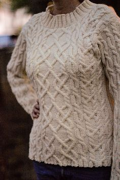 Ravelry: The Shearer pullover pattern by Kirsten Kapur  Almost but not quite my perfect aran to knit.