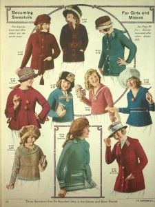 1921 Button Up Wool Sweater Jackets http://www.vintagedancer.com/1920s/ladies-1920s-sweaters/