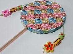 Mi ganchillo y más by Gloriarte: Cómo hacer un tambor japonés con materiales reciclados.