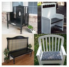 "Clever Ideas to Repurpose or ""Upcycle"" an Old Crib...(since so many of the old ones should no longer be used.)"