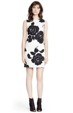Dolce&Gabbana Rose Print Brocade Shift Dress available at #Nordstrom