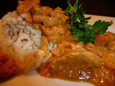 Butter Chicken cooked in the Crockpot.  I love it when dinner is delicious with very little work!  I guarantee this recipe is a hit!