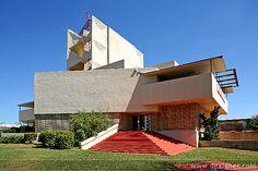 Anne Pfeiffer Chapel. Florida Southern College. Lakeland, Florida. 1938-40. Frank Lloyd Wright.