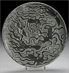 Tim Christensen,  sgraffito porcelain