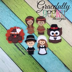 Thanksgiving Finger Puppet   Each set is OOAK yours will vary slightly from the example photo Finished set is $21