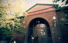 Bend, OR - Old St Francis School Pub & Hotel (McMenamins).  Yeah this is one McMenamins but oh so cool.  We ate at the pub which was some good hearty pub grub.  Would love to have checked out a movie in their vintage cinema or stay in one of the hotel's rooms which used to be old classrooms.  Yes way cool!
