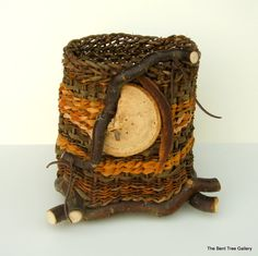Woodland Basket with Natural Embellishments by TheBentTreeGallery, $129.00