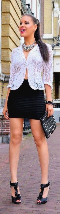 black,white and lace