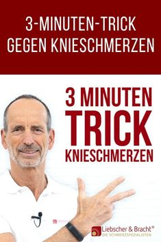 The trick against knee pain - Knieschmerzen - health & fitness Knee Exercises, Stress, Blog Love, Sports Activities, Knee Pain, Physical Fitness, Stay Fit, Tricks, Cardio