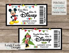 One Print Yourself Ticket, Surprise Ticket, Trip, Disney Ticket – Party Invitation Templates Disneyland Tickets, Disney World Tickets, Disney World Trip, Disney Vacations, Disney Trips, Family Vacations, Disney On Ice, Disney Day, Halloween