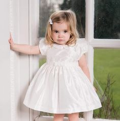 9cc2bcace Sue Hill Silk Isabelle Flower Girl Dress And Nappy Pants. Suitable for any  special occasion such as a baby flower girl dress, toddler christening dress .