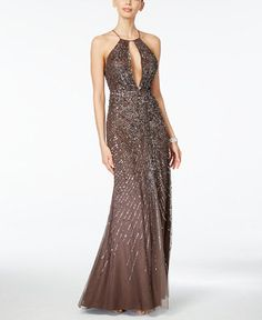 Adrianna Papell Beaded Halter Gown - if I was a movie star, maybe