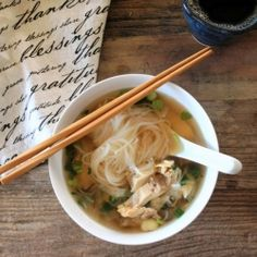 How to make an authentic bowl of Vietnamese pho ga , a chicken noodle soup with an intense chicken flavor, accented by fresh herbs.