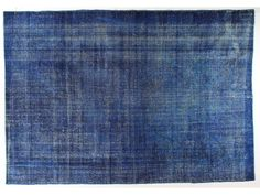 Over Dyed Rug With Blue