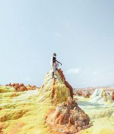 Salt pillars in Dallol, Ethiopia