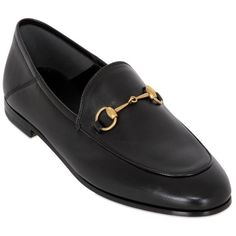 fde6a2fd08e Gucci Women 10mm Brixton Leather Loafers (12