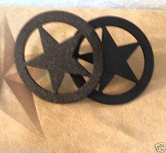 Western Decor Black Metal Western Star Pull Texas Star 3 Inch Dresser Knobs