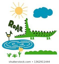 Azindianlany portfóliója a Shutterstock alatt Printable Stickers, Crocodile, Printables, Fictional Characters, Art, Imagination, Art Background, Crocodiles, Print Templates