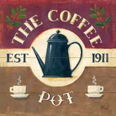 you ever needed in Coffee art! The Coffee PotThe Coffee Pot Coffee Talk, I Love Coffee, Black Coffee, Best Coffee, Coffee Break, My Coffee, Coffee Drinks, Coffee Shop, Coffee Cups