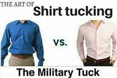 Shirt Tucked In, Military, Mens Fashion, Shirts, Moda Masculina, Man Fashion, Fashion Men, Dress Shirts, Men's Fashion Styles