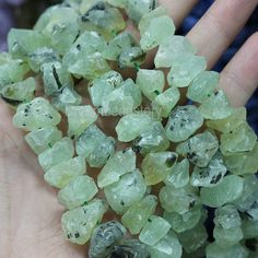 Details:  Type: Prehnite Category: Stone Beads Size: 15-20mm, about 44-46 pieces beads on one strand. Shape: Nuggets Color: Green Length: 15-15.7 inches Unit: Sold By 1 Strand Beads ID: HX69  ************************************************************************************* ★ DISCOUNT (A coupon code can be used before checking out.)  5% OFF on order $30 and above (Coupon Code: BEADS05 ) 6% OFF on order $50 and above (Coupon Code: BEADS06 ) 8% OFF on order $70 and above (Coupon Code…