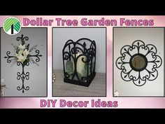 Dollar Tree Decor, Dollar Tree Store, Dollar Tree Crafts, Diy Garden Fence, Tree Garden, Garden Tips, Home And Family Crafts, Diy Home Crafts, Wall Hanging Crafts