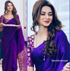 Bridal Blouse Designs, Saree Blouse Designs, Kids Party Wear Dresses, Jennifer Winget Beyhadh, Sari Design, Stylish Blouse Design, Plain Saree, Saree Trends, Indian Bollywood Actress