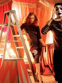 Karen Elson In Vogue Italia April 2007 By Steven Meisel