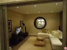 TV room: I love the lookout into the other room!