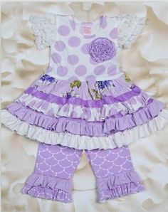 Purple Ruffle 2pc Set