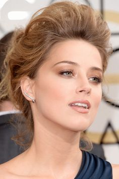 Amber Heard, Golden Globes Awards, 2014 (3)   dont really like amber but her makeup in this is perfect