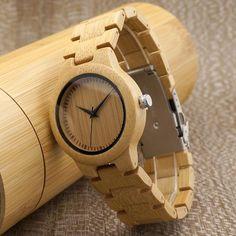 Bamboo Quartz Watch For Women - Peekticker