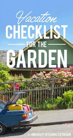 Vacation Checklist for the Garden